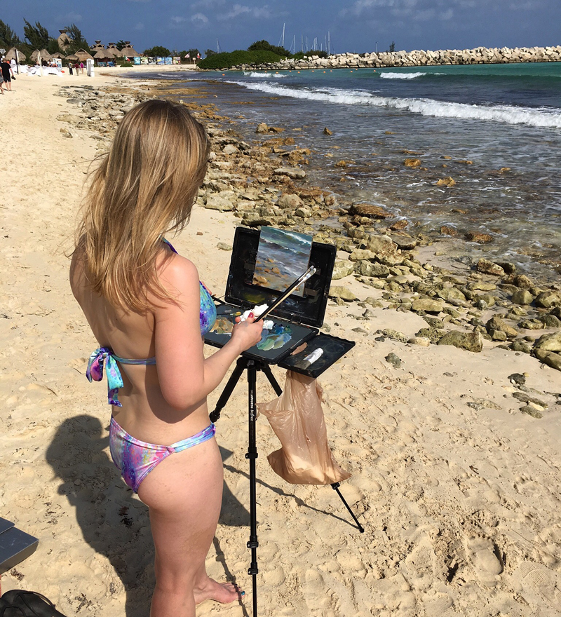 Painting in Cancun